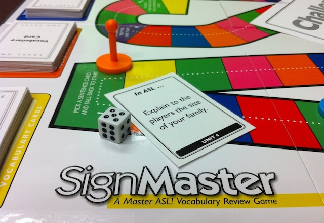 Sign Master ASL game board